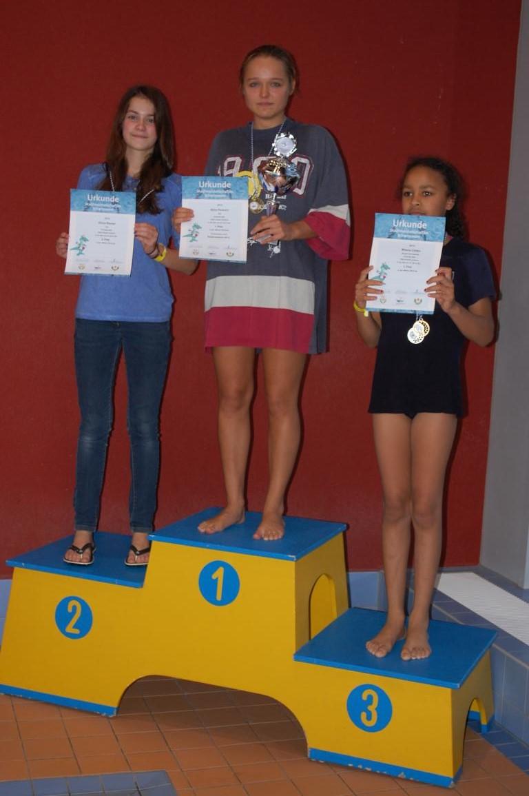 Stadtmeister Frauen 2015 im Schwimmen