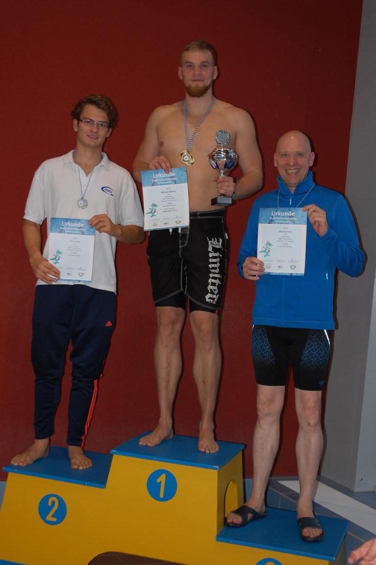 Stadtmeister Männer 2015 im Schwimmen