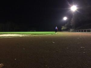 Laufen unter Flutlicht