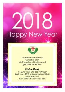 Neujahrsgrüße 2018